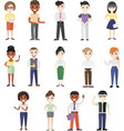 business people different nationalities isolated vector image vector image