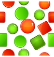 Button types pattern cartoon style vector image vector image