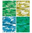 camoflague patterns vector image vector image