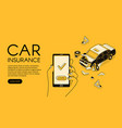 car accident insurance app vector image vector image