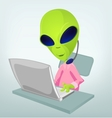 Cartoon technical support Alien vector image vector image