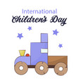 children s day card on a vector image