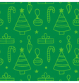 Christmas new year seamless pattern background vector image vector image