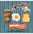 Classic breakfast motel advertisement retro poster vector image vector image
