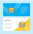 coins abstract corporate business banner template vector image