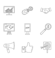 Contextual advertising icons set outline style vector image vector image