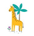 cute cartoon little giraffe scandinavian vector image
