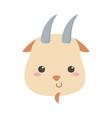 cute little goat face animal cartoon isolated vector image