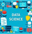 data science paper template poster vector image vector image