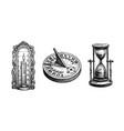 different types antique clocks vector image