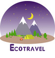 ecotravel3 vector image vector image