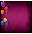 festive colorful balloons vector image vector image