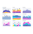financial infographic business bar graph and line vector image vector image