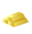 Fine quality gold bars vector image