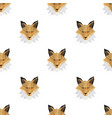 fox head triangle seamless pattern backgrounds vector image vector image