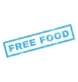 Free Food Rubber Stamp vector image vector image
