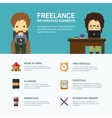 Freelance infographic template vector image vector image