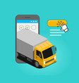 freight transportation commercial delivery truck vector image