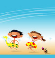 fun at the beach vector image