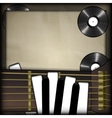guitar and piano keys in the form of fingers vinil vector image vector image