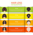Hair loss infographic template vector image vector image