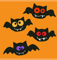happy halloween bats vector image vector image