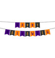 happy halloween hanging sign vector image