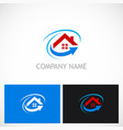 home roof arrow realty business logo vector image vector image
