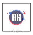 initial letter ah logo template design vector image vector image