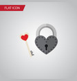 isolated lock flat icon key element can be vector image vector image