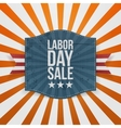 Labor Day Sale greeting paper Badge vector image