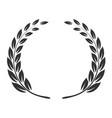 laurel wreath icon triumph and success emblem vector image