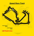 lq speed track circuit vector image vector image