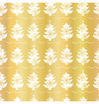 luxury gold foil festive christmas trees candle vector image vector image