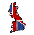 map of the united kingdom vector image