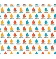 marine seamless pattern in flat yacht vector image vector image