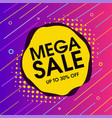 mega sale offer background vector image vector image