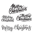 merry christmas - collection of hand-written texts vector image