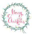 merry christmas garland vector image