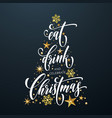 merry christmas greeting card golden decoration vector image vector image