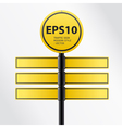 modern yellow traffic sign vector image vector image