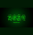 new year neon mesh 2020 design low poly vector image vector image