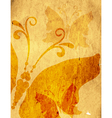 Old yellow spotty paper vector image vector image