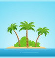 paradise in hawaii tropical island in the sea vector image vector image