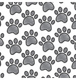 pet paw animal seamless pattern vector image
