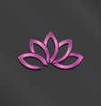 pink lotus flower logo icon vector image