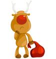Santa Reindeer vector image