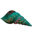 seashell isolated symbol fish and sea animals vector image