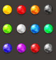 set of balls of various colors of liquid vector image