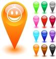 Smiley button vector image
